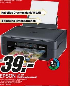 [LOKAL-HAMBURG] Epson 3in1 Drucker mit WLAN für 39,-€