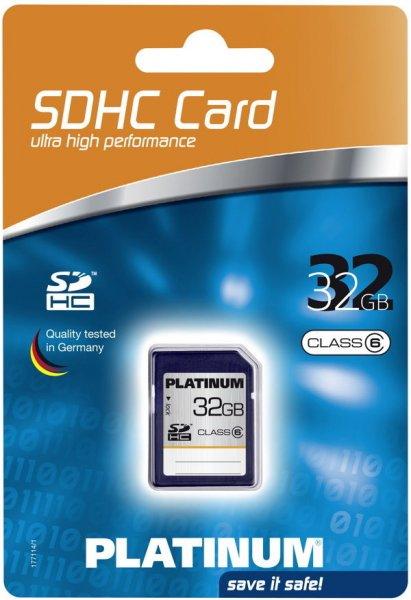 Platinum SDHC Karte 32GB 11,90€ inkl. VSK