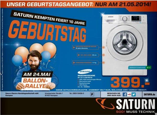 [Lokal Saturn Kempten] Waschmaschine Samsung WF70F5E5P4W  (nur heute, 21.05.2014)