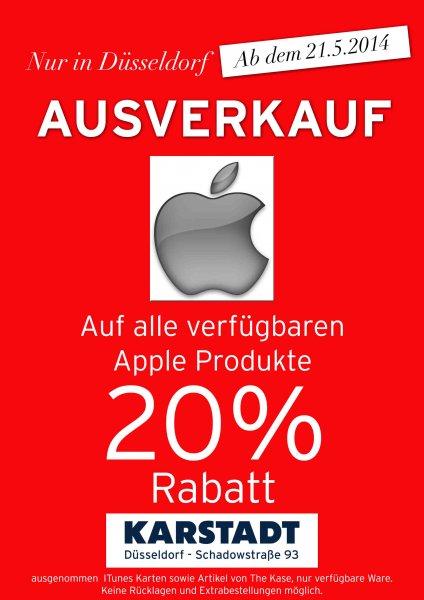 LOKAL DÜSSELDORF  Apple Produkte 20% KARSTADT