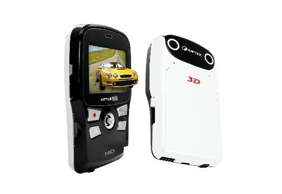 3D i2 Camcorder Full HD - 3D Aufnahmen! - weiss + Software Aiptek