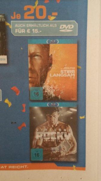 [Lokal Dortmund/Lünen/Soest] Stirb langsam 1-5 & Rocky  - The Complete Saga [Blu-ray] für je 20 EUR