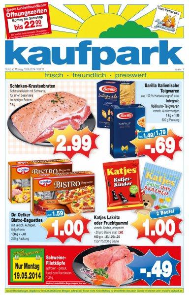kaufpark  2 Beutel Katjes Lakritz oder Fruchtgummi 1,00 Euro