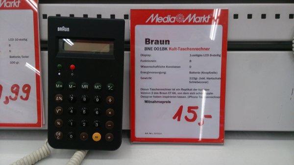 Braun BNE 001BK Taschenrechner (EAN 4007218660305) statt ab mindestens 24,33 für nur 15,- im Media Markt Berlin-Mitte (Alexa)