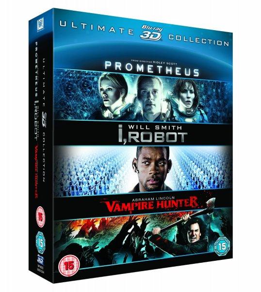 Prometheus / I, Robot / Abraham Lincoln  Blu Ray 3D  Amazon UK 22,39€