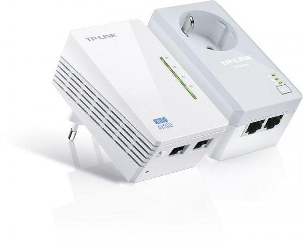 TP-LINK WiFi N Powerline AV500 Extender Passthrough Adapter Starter Kit für 59,90€ @ Cybersale + gratis Adapter (Wert: 25€)