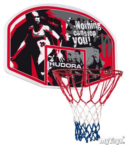 [Mytoys] Hudora - In-/Outdoor Basketball Korb-Set  mit Ball
