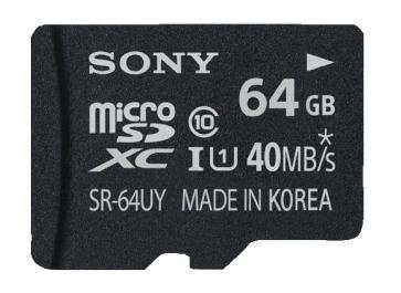 Sony 64GB microSDXC Karte Class 10 (SR64UYA) für 35€ @Saturn