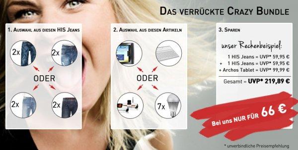2x  Herren Jeans & Tablet PC oder Tastatur, Spy C Tank, 7 LED Leuchtmittel für 66€ @ebay