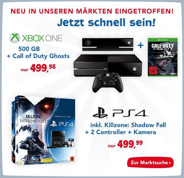 [Toys R Us / Bundesweit] Sony PlayStation 4 (PS4) 500GB + Killzone: Shadow Fall + Kamera + 2 Controller
