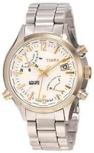 [Amazon.co.uk] Timex T2N945AU Herren-Analog-Quarz-Uhr,Edelstahl Gehäuse/Armband,Wasserdicht bis 10 Bar/100m,Weltzeit,mit 20% Newsletter-Gutschein nur 57,96€