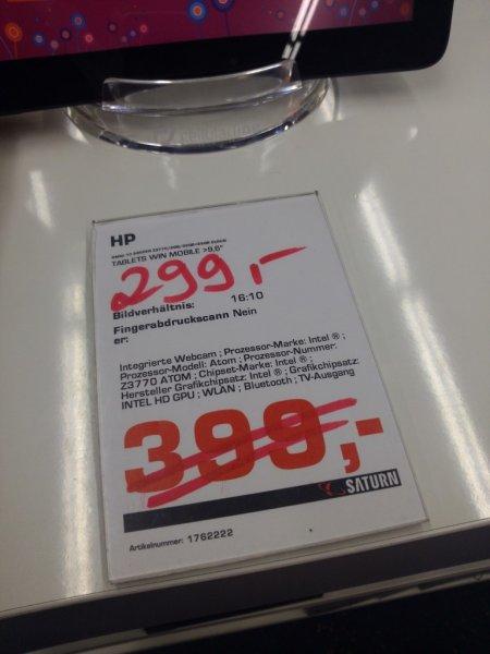 """LOKAL Frankfurt @Saturn: HP Omni10 5600EG Tablet(Windows 8.1, 10"""" Full HD, 2GB Ram, 32GB Flash, Quadcore) für 299 € (PV: 359 €)"""