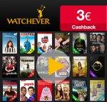 Watchever: Wieder 3 Monate für 8,99€ (Neukunden) + 3€ Cashback [Qipu]