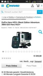 Go Pro Hero HD 3+ Black Edition Adventure
