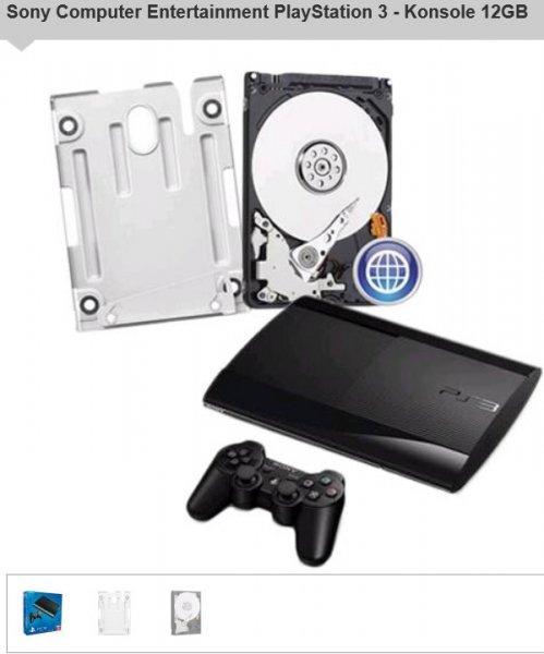 PlayStation 3 - Konsole 12GB + 500 GB HDD für 160,88€ @Redcoon