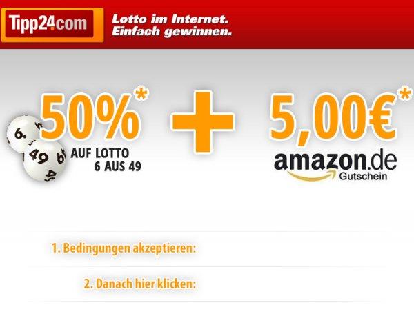 [Tipp24] 50 % Rabatt (Bestandskunden) und 5 Euro Amazon Gutschein (Neukunden)!