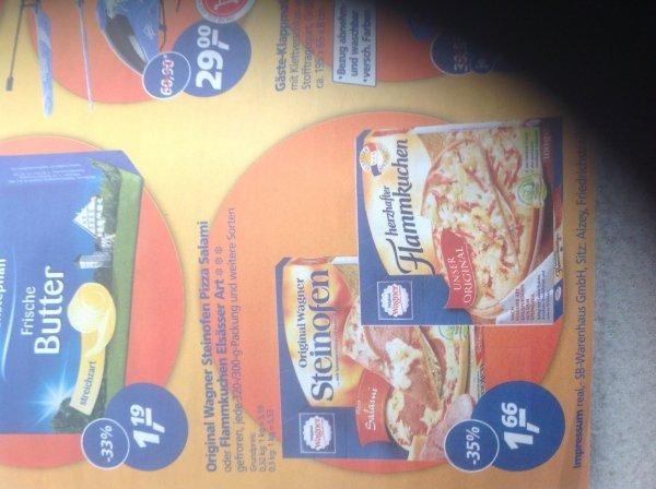 Wagner Pizza Salami / flammenkuchen Elsässer art bei Real