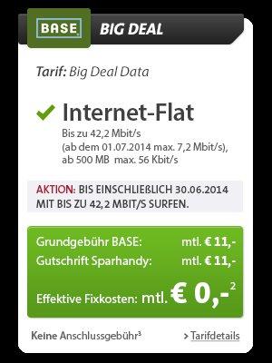 Hammer Angebot für Sparhandy Bestandskunden: 500 MB Internet-Flat für effektiv 0,-