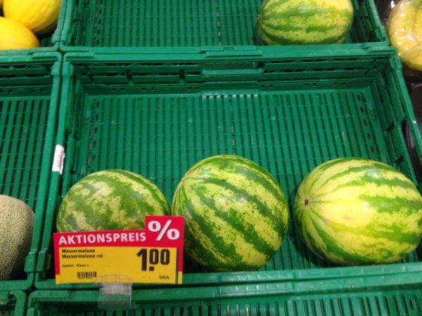 [LOKAL]Wassermelone 1€/Stk bei Rewe in Reppenstedt/Lüneburg