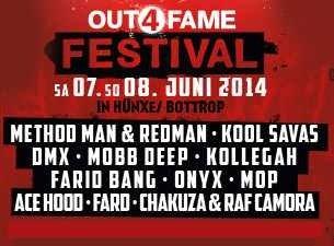 Out4fame Festival Karten (beide Tage) bis zu 32€ günstiger beim Kauf einer CD/MP3 @Amazon