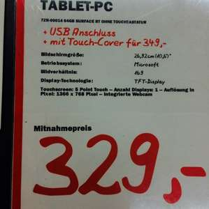 Microsoft Surface RT 64GB mit Touchcover