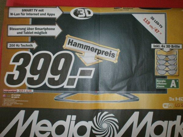 """[LOKAL Media Markt Hamburg] LG 3D-LED Fernseher 47"""" - 119 cm = 399 €"""