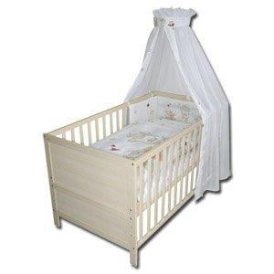 Roba Kinder-Kombi-Holzbett incl Matratze,3fach Bettwäsche,Himmel etc für 76,10€ - REAL offline