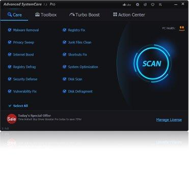 Advanced SystemCare 7 PRO - 1 Jahr Lizenz (0 € statt 14,99 €)