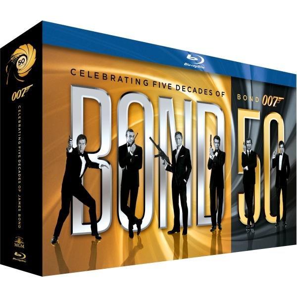 James Bond 50: Die Jubiläums-Kollektion (ohne Skyfall) [Blu-ray]@ Zavvi.nl