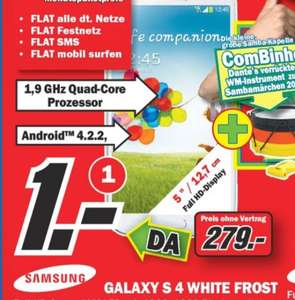[Lokal MM Nagold] Samsung Galaxy S4 White Frost