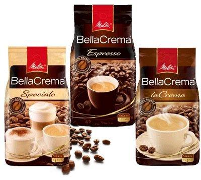 Melitta Bella Crema Kaffeebohnen, 1 kg Packung, 3 verschiedene Sorten, je 6,99€ - Versandkostenfrei bei Saturn
