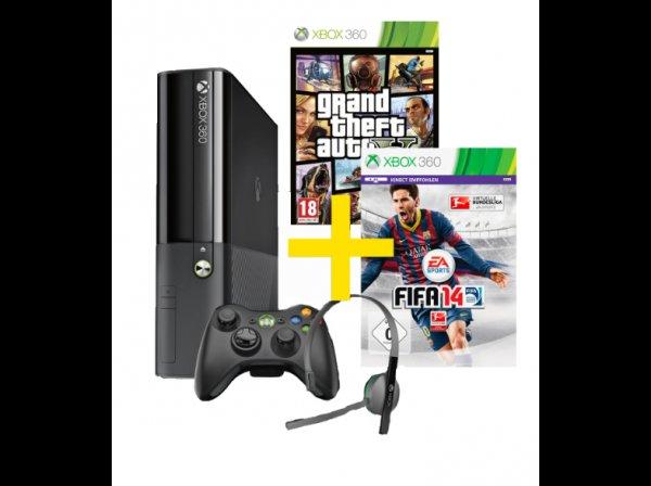 @mediamarkt.AT: MICROSOFT Xbox 360 E 250GB + FIFA 14 + Grand Theft Auto V