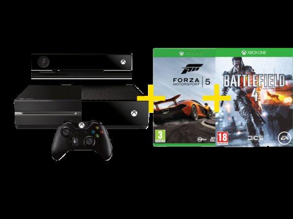 [mediamarkt.at] Xbox One 500GB mit FIFA 14 + Forza 5 Motorsport oder Forza Motorsport 5 + Battlefield 4(Download-Token) / Lieferung nach DE möglich!