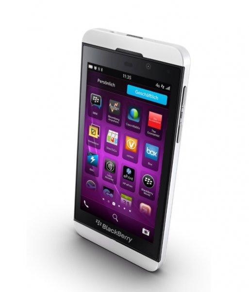 Blackberry Z10 in Weiß / Amazon WHD / Zustand: Gut