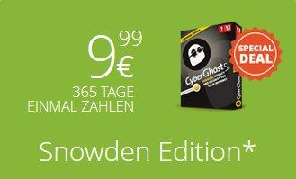"""Cyberghost VPN """"Snowden Edition"""" - 1 Jahr, 1 Gerät für 9,99 EUR"""