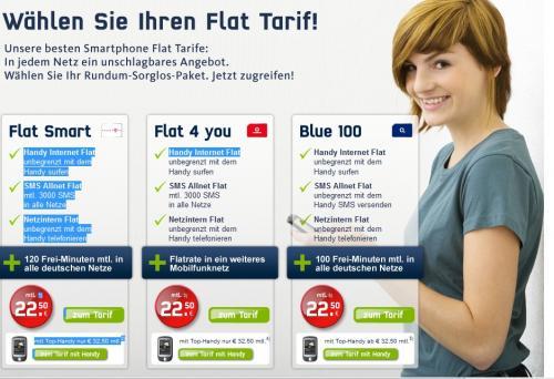 Samsung Galaxy S für 1 € mit attraktiven Vertragskonditionen  für 22,50 /Monat