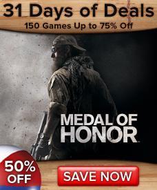 Medal of Honor 5,95GBP=€6,94 für PC bei D2D