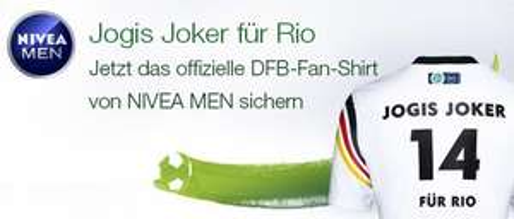 Gratis DFB-Fan-Shirt von NIVEA MEN beim Kauf von NIVEA MEN Produkten @ Amazon