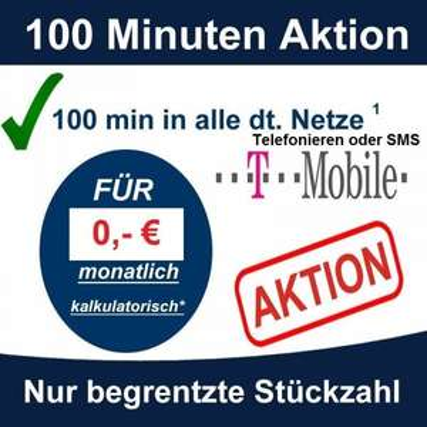 D1 100 Min. Allnet/SMS eff.1,24€/Monat. Ebay (kein Datenvolumen).