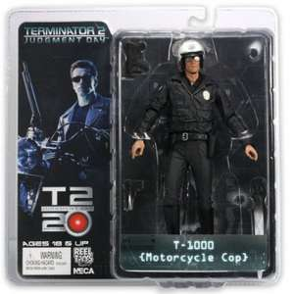 The Terminator T1000 Motorcycle Cop NECA Figur Amazon Prime 10,90€ plus Buch
