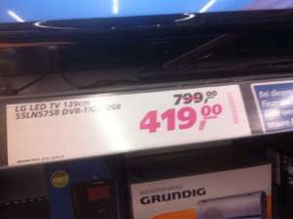 Lokal??? LG 55LN5758 139 cm (55 Zoll) LED-Backlight-Fernseher 419€ @ real Neuss