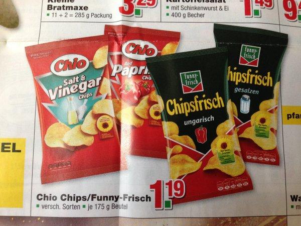 [Handelshof] Funny-Chips Chipsfrisch für 1,19 € (175g) oder 1,69 € (250/290g)