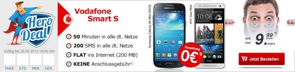 *wieder da* - Vodafone Smart S  + HTC One mini / Samsung Galaxy S4 mini DUOS *UPDATE*