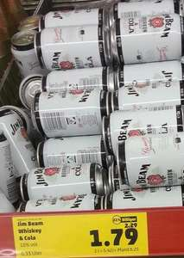Dose Jim Beam Cola bei Penny für 1,79 Euro Lokal?