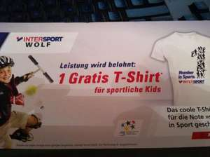 INTERSPORT - Kostenloses T-Shirt - Zeugnisaktion (KINDER)