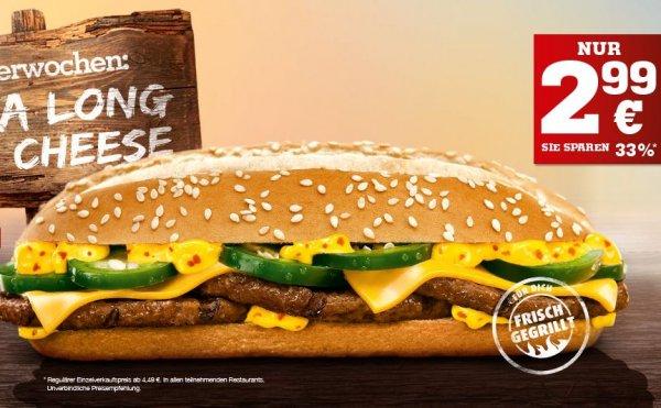 [Burger King Probierwochen]  Xtra Long Chili Cheese für 2,99€