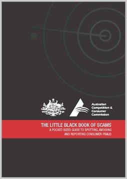 """The little black book of scams """"Das kleine schwarze Buch von Betrügereien"""""""