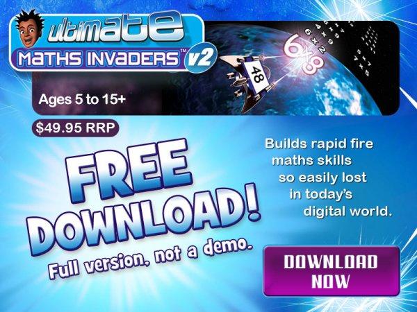 Ultimate Maths Invaders für Kinder zwieschen 5 - 15 Jahren