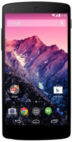 (Lokal MM Wuppertal) Google Nexus 5 Smartphone (12,6 cm (4,9 Zoll) Full HD-IPS-Display, 2,26GHz Snapdragon 800 Prozessor, 16GB interner Speicher, 8 Megapixel Kamera, Android 4.4) schwarz