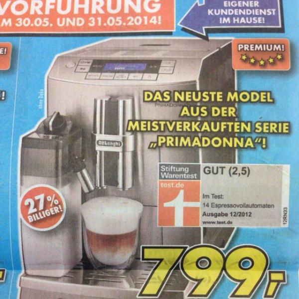DeLonghi PrimaDonna S - ECAM 28.466.MB Kaffeevollautomat 799€